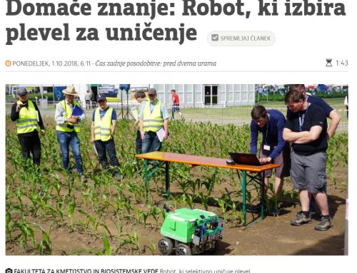 Domače znanje: Robot, ki izbira plevel za uničenje