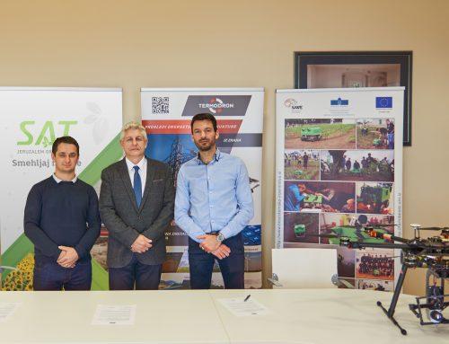 Podpis dogovora o skupnih raziskavah za uporabo dronov v kmetijstvu